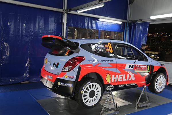 WRC 2014 MONTE CARLO - Assistance Equipe HYUNDAI