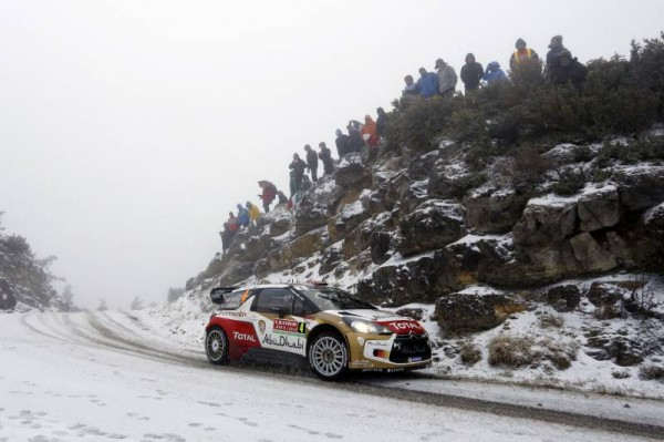 WRC 2014 MONTE CARLO 76 DS3 MADS OSTBERG dans la neige