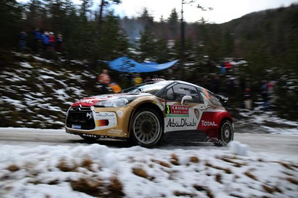 WRC 2014 MONTE CARLO GAP SISTERON DS3 de KRIS MEEKE dans le petit tapis de neige
