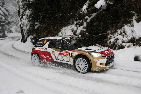 WRC 2014 MONTE CARLO - La CITROEN DS3 de Mads OSTBERG dans le TURINI SAMEDI 18 Janvier