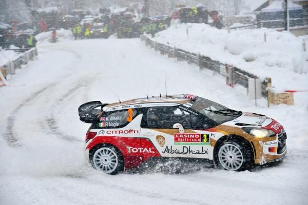 WRC 2014 MONTE CARLO - La DS3 CITROEN de MEEKE dans le TURINI SAMEDI 18 Janvier