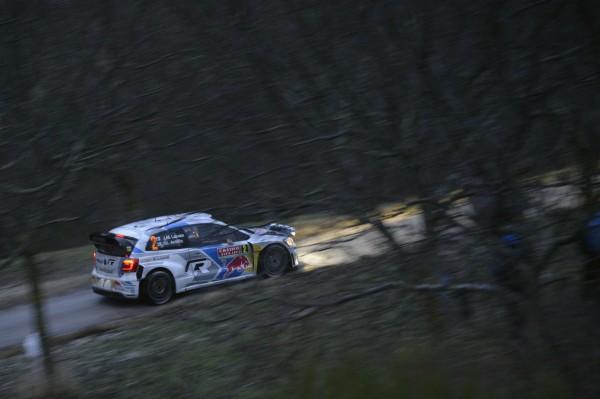 WRC 2014 MONTE CARLO - La VW Polo WRC de LATVALA dans le Col de Breil
