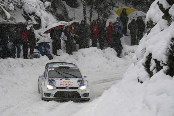 WRC 2014 MONTE CARLO - La VW Polo WRC de OGIER INGRASSIA dans le TURINI.