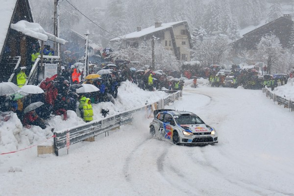WRC 2014 MONTE CARLO - La VW Polo WRC de OGIER INGRASSIA dans le TURINI SAMEDI 18 Janvier