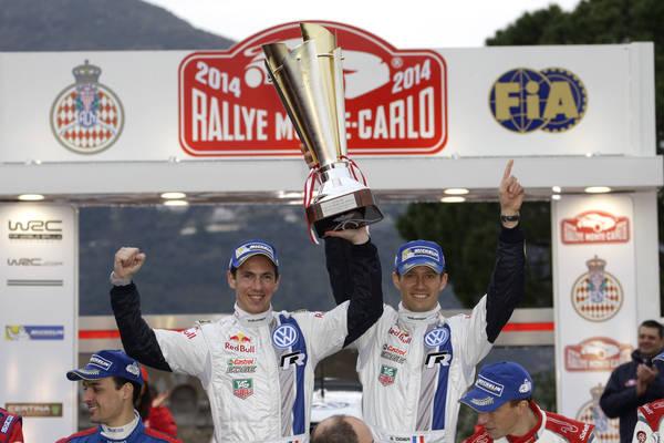 WRC 2014 MONTE CARLO - OGIER et INGRASSIA sur le podium