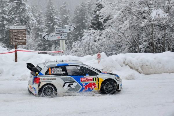 WRC 2014 MONTE CARLO - VW Polo Num 1 de OGIER INGRASSIA dans le TURINI SAMEDI 18 Janvier