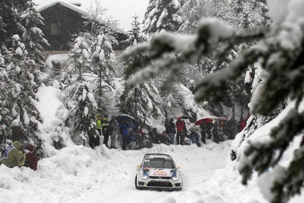 WRC 2014 MONTE CARLO - VW Polo de OGIER INGRASSIA dans le TURINI SAMEDI 18 Janvier