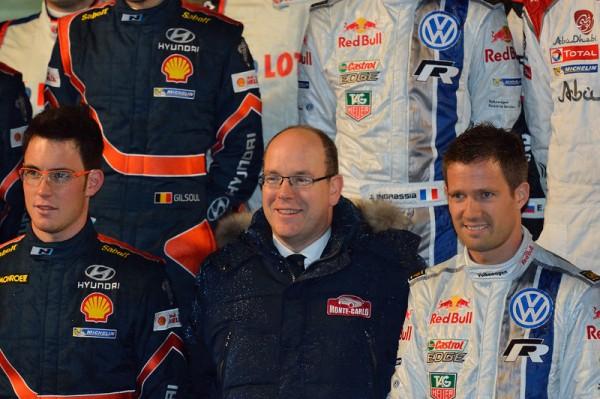 WRC-2014-MONTE-CARLO-le-PRINCE-ALBERT-avec-le-Champion-du-monde-OGIER-et-le-Vice-champion-NEUVILLE