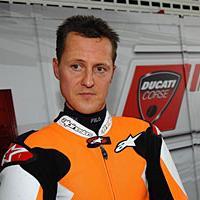 schumacher en tenue moto