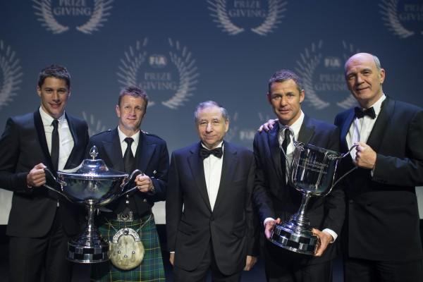 FIA 2013 Relmise des Prix a PARIS les pilotes AUDI avec Jean TODT et le Dc ULLRICH