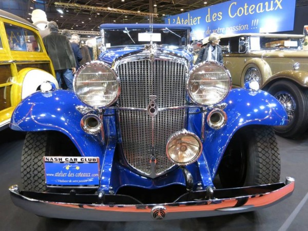 RETROMOBILE-2014-Une-NASH-de-1932-appellée-la-DUSEMBERG-de-KENOSHA-pres-de-MILWAUKEE-photo-Jean-Paul-CALMUS