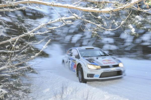 WRC 2013 - Rallye de SUEDE- La VW Polo WRC de Seb OGIER file vers une sensationnelle victoire