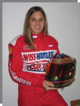 SIMONA-De-Silvestro- A l'époque où elle tournait en karting