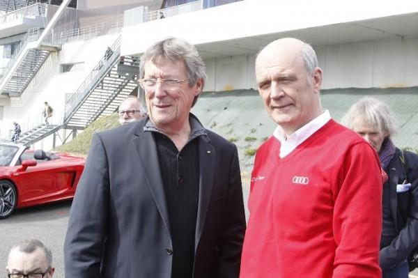 ULLRICH-avec-le-Directeur-de-course-des-24-H-Daniel-POISSENOT-Présentation-25-Mars-au-Mans-Photo-Thierry-COULIBALY