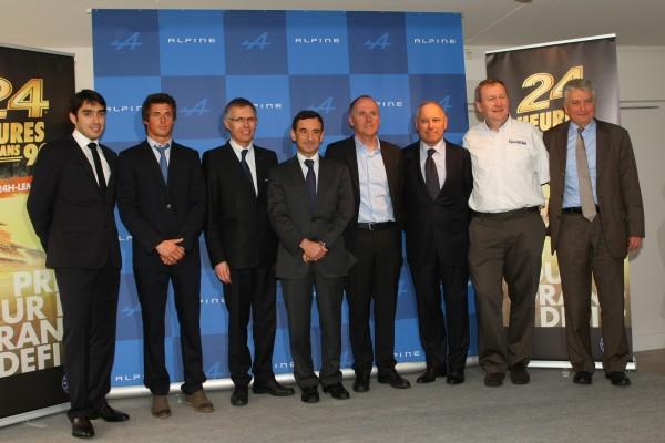ALPINE-2013-LE-MANS-8-MARS-Nelson-Panciatici-Didier-Calmels-Pierre-Ragues-Philippe-Sinault-Pierre-FILLON-Carlos-TAVARES-Pascal-COUASNON-Bernard-OLLIVIER