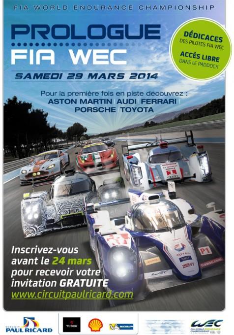 CIRCUIT PAUL RICARD AFFICHE Prologue  WEC  2014