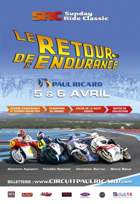 CIRCUIT PAUL RICARD AFFICHE  SUNDAY RIDE CLASSIC