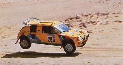 DAKAR-1987-PEUGEOT-205-Ari-VATANEN-et-Bernard-GIROUX