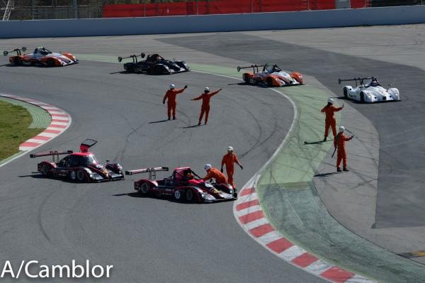 VdeV 2014 Barcelone -Accrochage entre les deux LIGIER OAK Racing - Photo Antoine CAMBLOR
