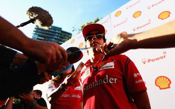 F1  2014  AUSTRALIE  FERNANDO ALONSO PORTRAIT