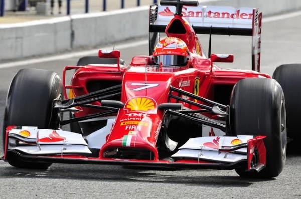 F1-2014-JEREZ-essai-28-Janvier-FERRARI-KIMI-RAIKKONEN-de-face-Photo-Max-MALKA