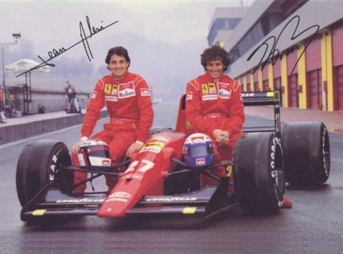 JEAN ALESI ET ALAIN PROST équipiers chez Ferrari en 1990
