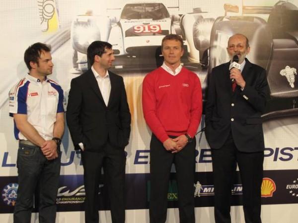 Nicolas Lapierre (Toyota) - Neel Jani (Porsche) - Marcel Fässler (Audi) - Henri Pescarolo