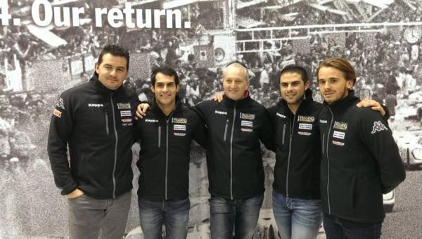 PORSCHE-CARRERA-CUP-2014-Le-TEAM-RACING-TECHNOLOGY-Sylvain-NOEL-et-ses-4-pilotes.