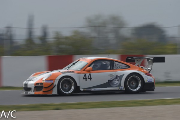 VdeV 2014 Barcelone- PORSCHE 911 GT3 R - Michel NOURRY et Eric MOUEZ -Eric - Photo Antoine CAMBLO
