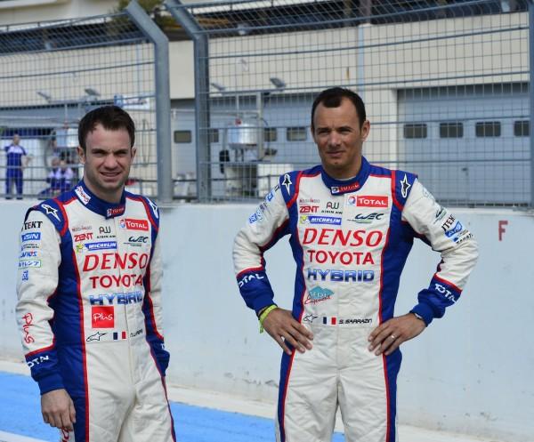 WEC 2014 - Presentation Team TOYOTA - Circuit Paul RICARD - Jeudi 27 Mars- Les deux pilotes Français Nicolas LAPIERRE et Stephane SARRAZIN- Photo Max MALKA.
