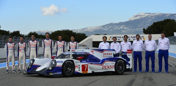 WEC 2014 - Presentation Team TOYOTA TS040 au PAUL RICARD le 27 Mars - Photo Max MALKA.