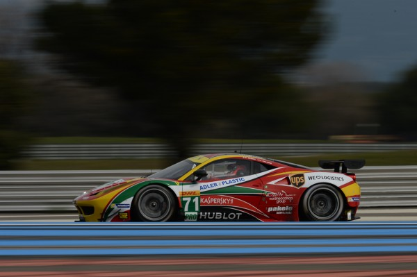 WEC-2014-prologue-Paul-RICARD-FERRARI-F458-la-N°71-AF-Corse-Rigon-Bruni-et-James-Calado-samedi-29-Mars-séance-matinale-Photo-Antoine-CAMBLOR