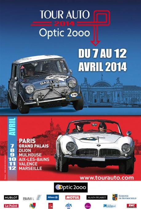 CIRCUIT PAUL RICARD AFFICHE  TOUR AUTO