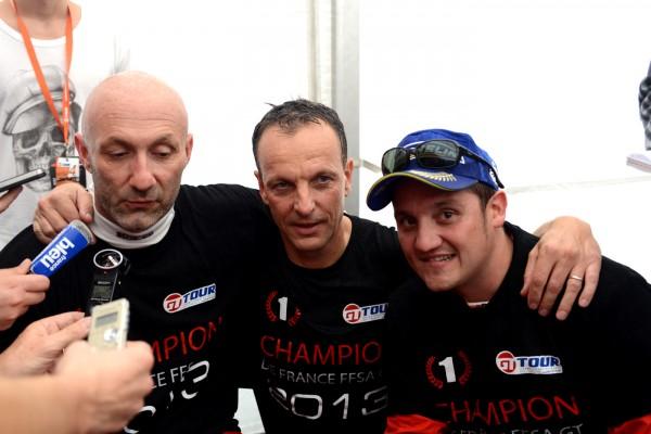 GT TOUR 2013 PAUL RICARD - BARTHEZ - Jerome POLICAND et Morgan MOULLIN TRAFFORT - LES CHAMPIONS 2013 - photo Claude MOLINIER.