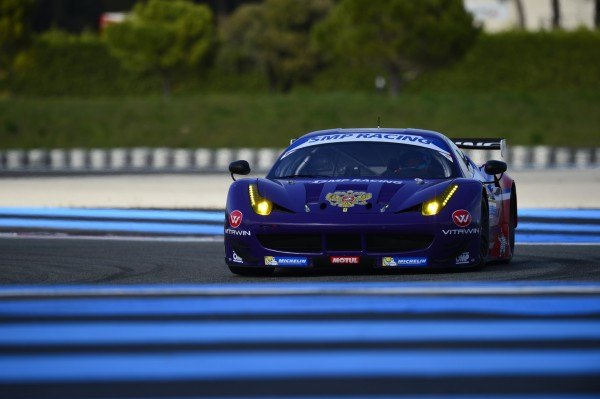ELMS 2014 - Test Paul RICARD - la FERRARI SMP Racing N°56 - Photo Antoine CAMBLOR