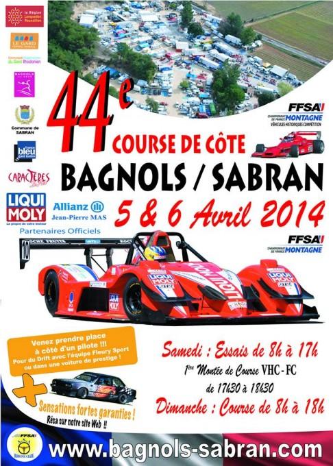 MONTAGNE 2014 BAGNOLS SABRAN affiche