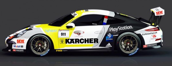 PORSCHE-CARRERA-CUP-2014-Presentation-Team-SLR-la-voiture-de-Christophe-LAPIERRE