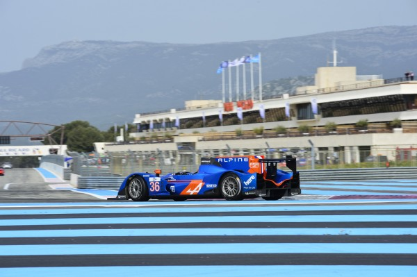RLMS 2014 Essai Paul Ricard 2 avril matin ALPINE du Team SIGNATECH de PANCIATICI- WEBB et Paul Loup CHATIN -Photo Antoine CAMBLOR