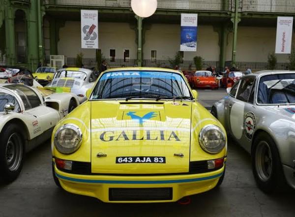 TOUR AUTO 2014 - PORSCHE 911 RSR de 1973Michel LECOURT sous la Verriere du Grand PALAIS a PARIS Lundi 7 avril -Photo Max MALKA