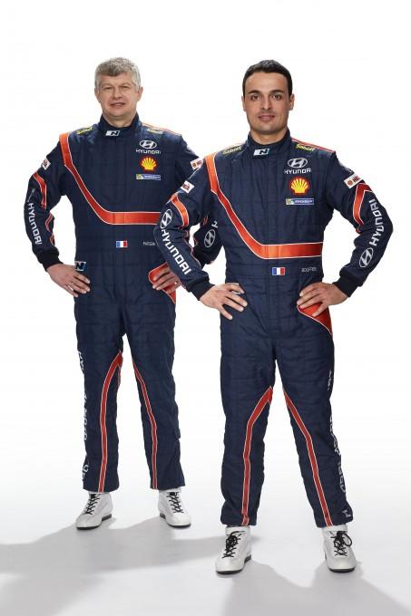 WRC 2014 Bryan BOUFFIER et Xavier PANSERI pilote HYUNDAI.