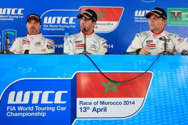 WTCC-2014-MARRAKECH-CONFERENCE-DE-PRESSE-des-pilotes-CITROEN