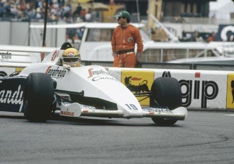 "Grand Prix de MONACO 1984- Le Br""dsilien AYRTON SENNA et la TOLEMAN-HART - Photo Bernard BAKALIAN"