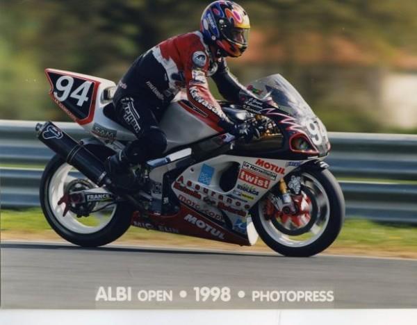 CHAMPION DE FRANCE SBK EN 1998