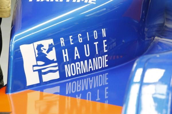 La Région HAUTE NORMANDIE partenaire de l'équipe ALPINE-SIGNATECH -Photo Thierry COULIBALY
