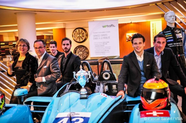 ELMS 2014 - Team de Benoit MORAND - Soiree NEWBLOOD by MORAND - Show Room GEORGE V BMW a PARIS le mardi 22 avrul photo VISION SPORT
