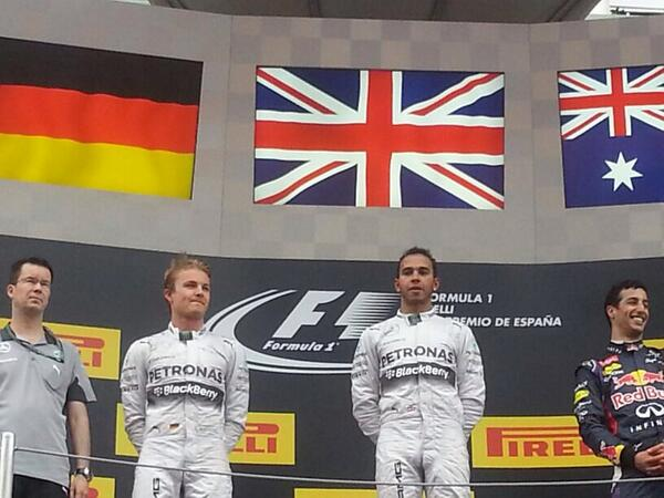F1-2014-BARCELONE-Le-podium-avec-ROSBERG-2éme-HAMILTON-vainqueur-et-RICCIRDO-3éme