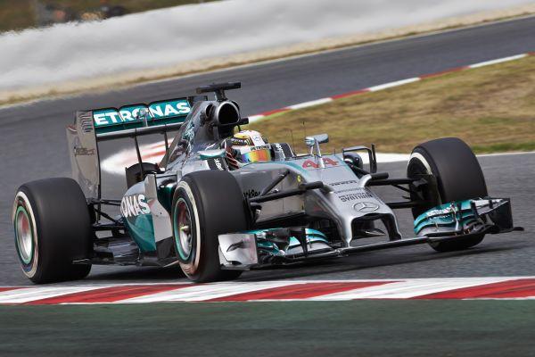 F1 2014 BARCELONE MERCEDES de Lewis HAMILTON