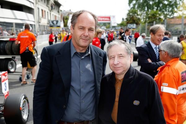 F3 2014 GP DE PAU - GERHARD BERGER - President de la commission monoplace a la FIA et Jean TODT le Président de la FIA