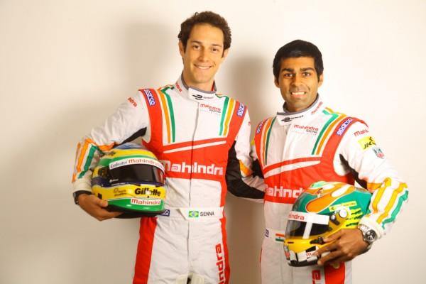 FORMULE E 2014 Bruno Senna et Karun Chandhok pilotes du Team Indien Mahindra in the FIA Formula E Championship.