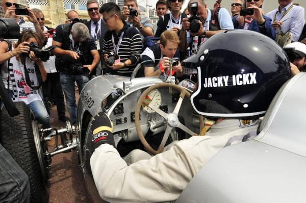 GRAND PRIX HISTORIQUE MONACO 2014 -JACKY ICKX - demonstration avec une AUTO UNION -Photo Max MALKA
